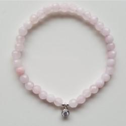 Pulsera de plata y ágatas facetadas rosas con circonita de la colección de joyas de plata Primera Comunión PlataScarlata PSP5203