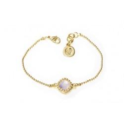 Pulsera oficial de la serie Velvet con baño oro para la joyería online PlataScarlata