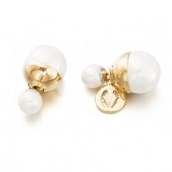 Pendientes baño oro y perlas de la colección de joyas de la serie de TV Velvet para PlataScarlata
