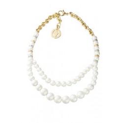 Gargantilla baño oro y perlas  VELVET para la joyería online PlataScarlata