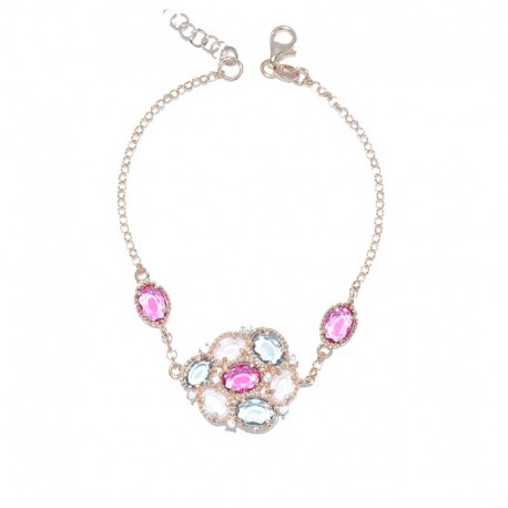 Pulsera de plata 925 con baño de oro rosa Plata Scarlata PSR54015