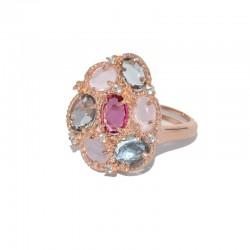 Anillo de plata 925 con baño de oro rosa PSR51025