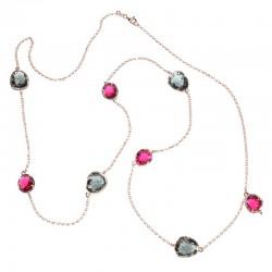 Collar de plata 925 con baño de oro rosa PSR52027