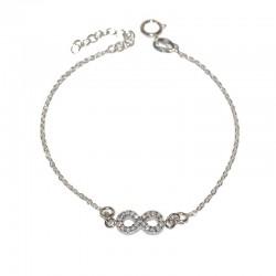 Pulsera de plata 925 con infinito de  circonitas brillantes de las joyas de plata para mujer The Essentials TEP54007