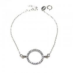 Pulsera de plata 925 con circonitas brillantes TEP54013