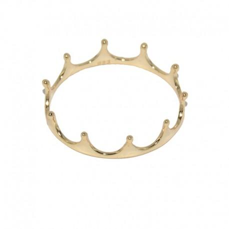 Anillo de plata chapado en oro corona The Essentials para la joyería online PlataScarlata TEO51004