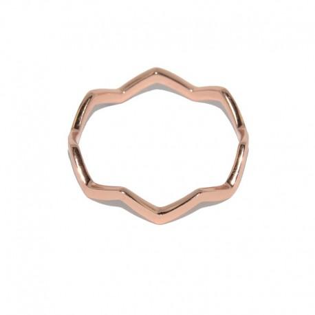 Anillo de plata con baño de oro rosa de la colección de joyas para mujer The Essentials TER51009