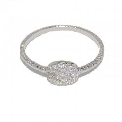 Anillo de plata con pavé de circonitas de la colección de joyas de plata para mujer The Essentials  TEP51016