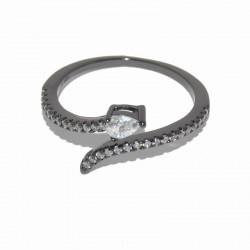 Anillo de plata rodiada con serpiente de circonitas de la colección de joyas de plata para mujer The Essentials TEP51018