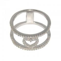 Anillo de plata con corazón de circonitas de las joyas de plata para mujer The Essentials y la joyería online  TEP51021