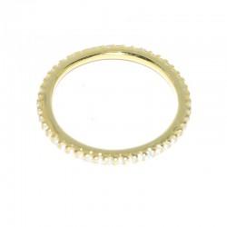Anillo de plata y baño de oro con circonitas de las joyas para mujer The Essentials en tu joyería online PlataScarlata TEO51029
