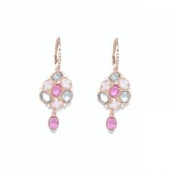 Pendientes de plata 925 chapados oro rosa Plata Scarlata PSR53015