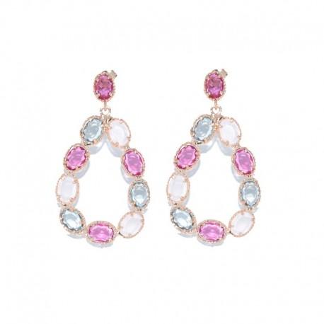 Pendientes de plata 925 chapados oro rosa PSR53016