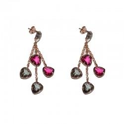 Pendientes de plata 925 chapados oro rosa PSR53018