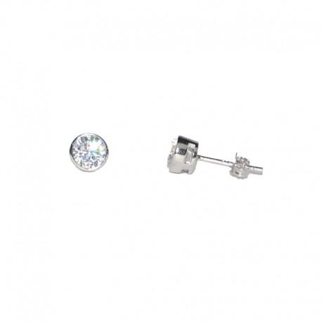 Pendientes de plata y circonitas brillantes TEP53002 de la colección de joyas de plata para mujer The Essentials para la joyería