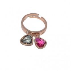 Anillo de plata 925 con baño de oro rosa 02PSR51022