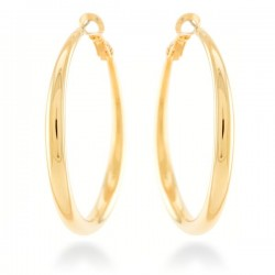 Pendientes acero baño oro de la colección de joyas para mujer Luxenter para PlataScarlata