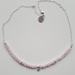 Colgante de plata y ágatas  rosas  y circonita de la colección Primera Comunión de la joyería online PlataScarlata PSP52041