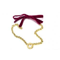 Gargantilla con baño de oro de la colección oficial de la serie de TV VELVET para la joyería online PlataScarlata