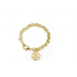 Pulsera Velvet baño oro de eslabones y placa de la colección oficial de joyas de la serie de TV Velvet para PlataScarlata