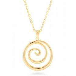 Colgante acero baño oro de la colección de joyas mujer Luxenter para la joyería online PlataScarlata