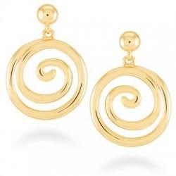 Pendientes de acero baño oro de la colección de joyas para mujer de Luxenter para la joyería online PlataScarlata  SGEW11000