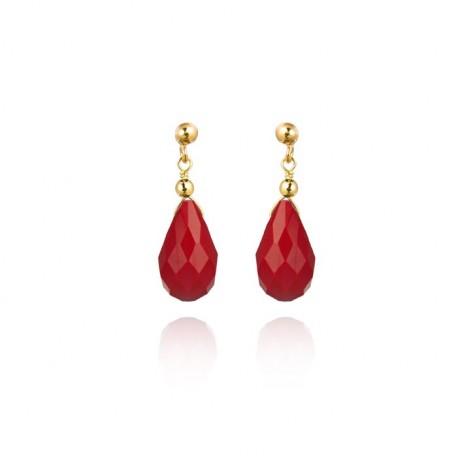 Pendientes de plata y baño oro de la colección de joyas de plata Luxenter para la joyería online PlataScarlata EXA003Y54400