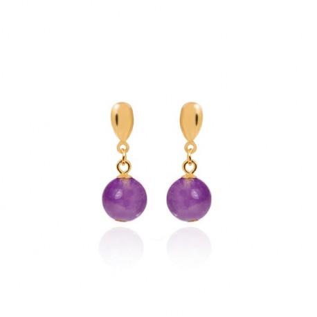 Pendientes plata baño oro de la colección de joyas de mujer Luxenter para la joyería online PlataScarlata EXA004Y72900