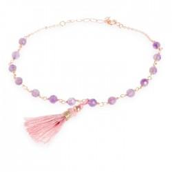 Pulsera de  plata baño oro de la colección de joyas de mujer Luxenter para la joyería online PlataScarlataBXA027R72900