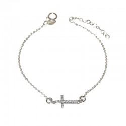 Pulsera de plata 925 con cruz de circonitas de la colección de joyas de plata para mujer The Essentials TEP54001