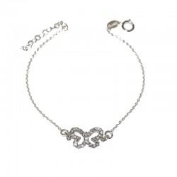Pulsera de plata 925 con mariposa de  circonitas de la colección de joyas de plata para mujer The Essentials  TEP5400