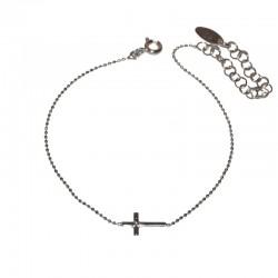 Pulsera de plata con cruz de la colección de joyas de plata para mujer The Essentials TEP54006