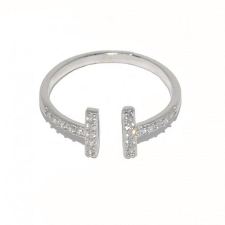 Anillo de plata y circonitas The Essentials para la joyería online PlataScarlata TEP51005