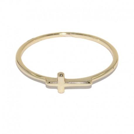 Anillo de plata con baño de oro de la colección de joyas para mujer The EssentialsTEO51008