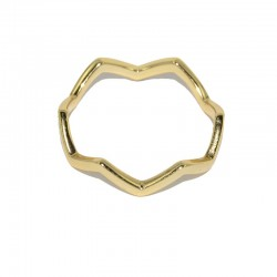 Anillo de plata chapado en oro de The Essentials TEO51010