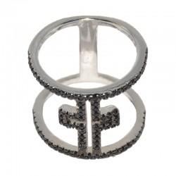 Anillo de plata  con cruz de la colección de joyas de plata para mujer The Essentials y la joyería online PlataScarlata TEP51019