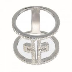 Anillo de plata cruz de circonitas de joyas de plata para mujer The Essentials y la joyería online PlataScarlata TEP51020