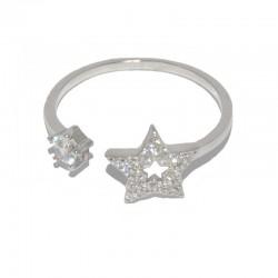 Anillo de plata y circonitas con estrellas The Essentials para la joyería online PlataScarlata TEP51006