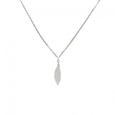 Colgante de plata con motivo pluma de la colección de joyas de plata para mujer The Essentials TEP52003