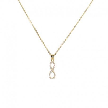 Colgante de plata chapado de oro con infinito en circonitas de la colección de joyas para mujer The Essentials TEO52001