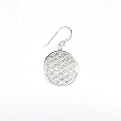 Pendientes de plata con flor de la vida de la marca de joyas de plata para mujer The Essentials TEP53008
